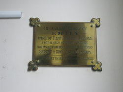 Plaque in memory of Emily Milligan at Green