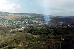 Aberaman and Cwmbach from Maesyffynnon tips, 1996