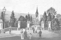 Print of Glyntaff Cemetery and Chapel